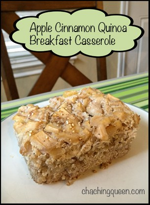 apple cinnamon quinoa breakfast casserole recipe