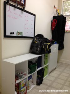 school lunches organization shelves whiteboard - Back to School Money Saving Tips