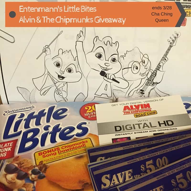 Entenmann's Little Bites & Alvin & the Chipmunks giveaway prize pack