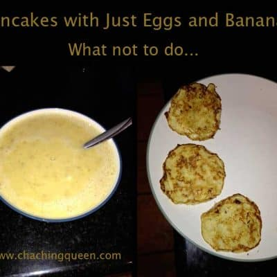 Pancakes Made with Eggs and Bananas Recipe – What not to do