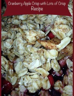 Cranberry Apple Crisp with Lots of Crisp – Recipe