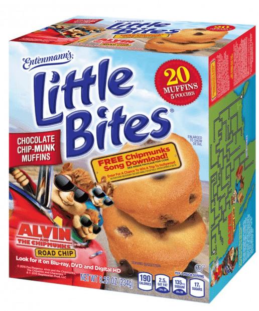 entenmanns little bites alvin and the chipmunks road chip snacks box
