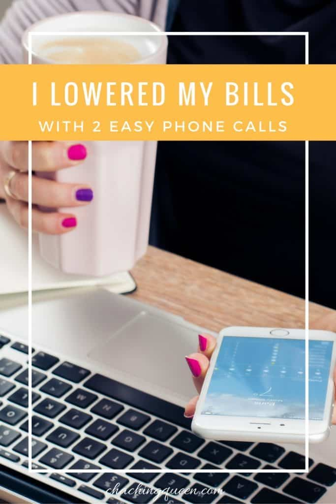 how to lower your bills - phone calls to lower your monthly bills