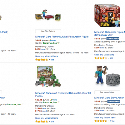 Minecraft Toys Deal – Save up to 35%