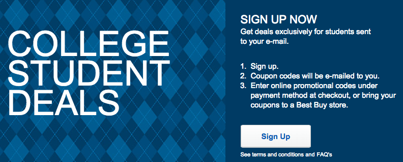 best buy college student deals coupons discounts