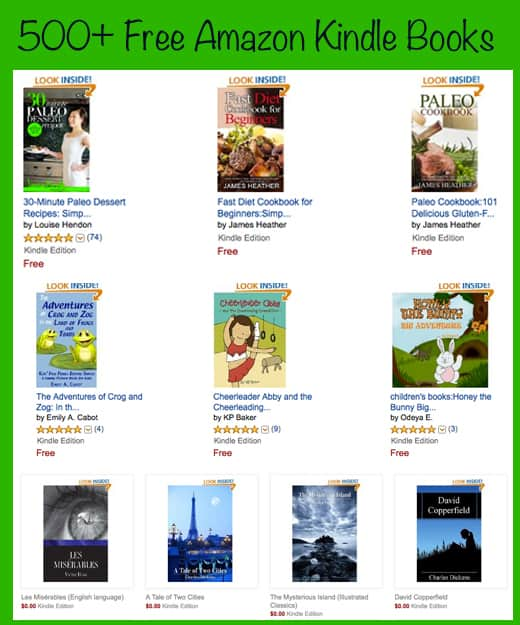 How to get Free Kindle Books - Big List of Free Amazon Kindle Books