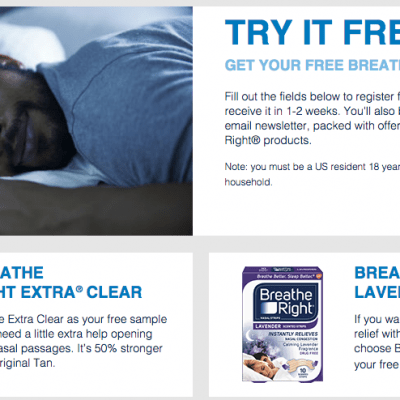 Breathe Right Free Sample and Printable Coupon