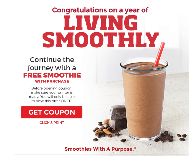 smoothie king printable coupon free smoothie september 2016