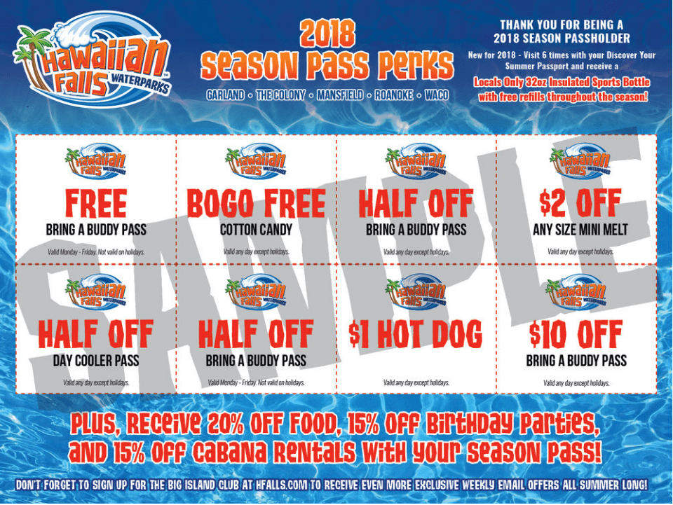 Hawaiian Falls Coupons, Discounts, Free Tickets 2020 - Cha Ching Queen