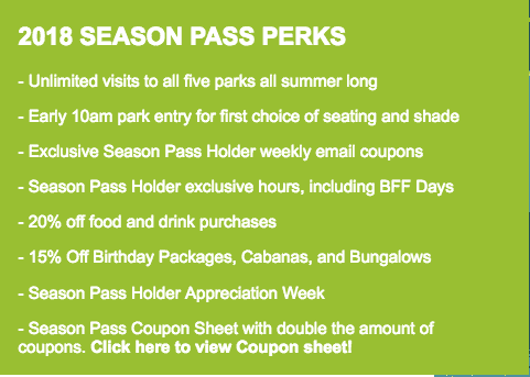Hawaiian Falls Season Pass perks