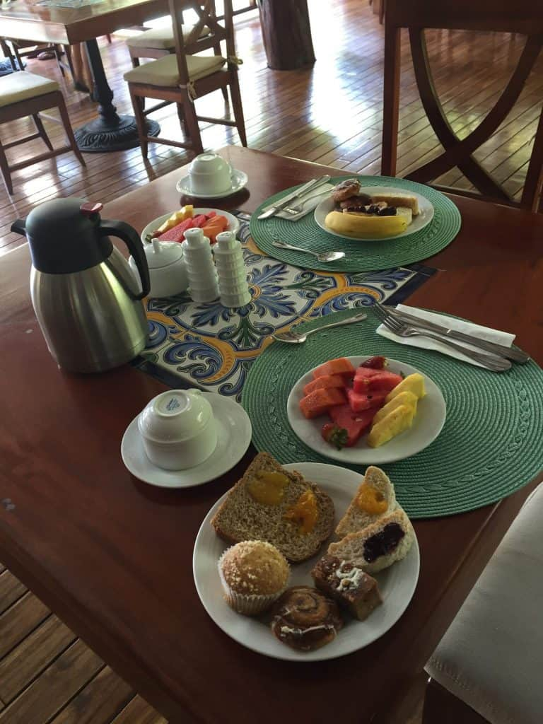 Jardin del Eden Boutique Hotel Review breakfast table