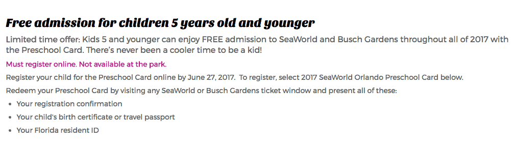 Kids Can Get Free Tickets to SeaWorld and Busch Gardens