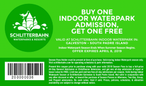 galveston buy one get one free admission printabl e coupon 2018 Schlitterbahn Waterpark Season Pass Holder