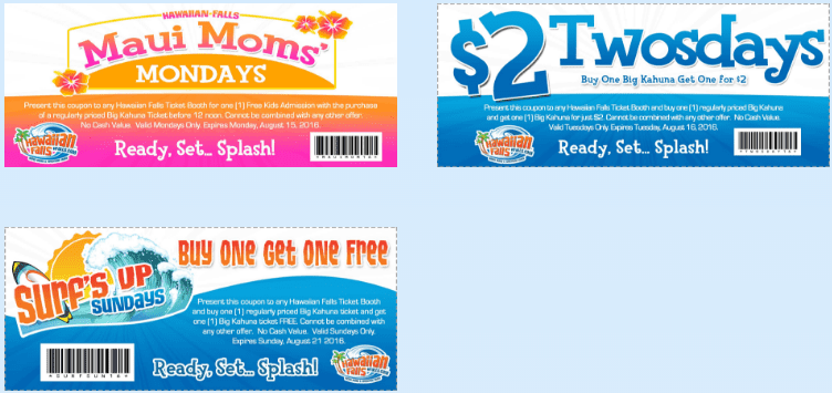 hawaiian falls printable coupons 2016