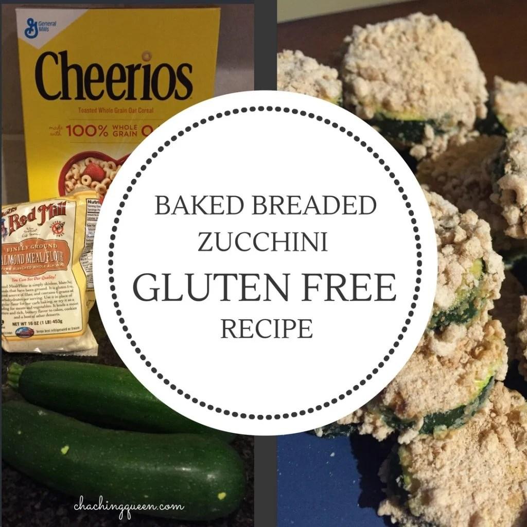 Baked Breaded Zucchini Recipe (Gluten Free Option) healthy vegetables for dinner