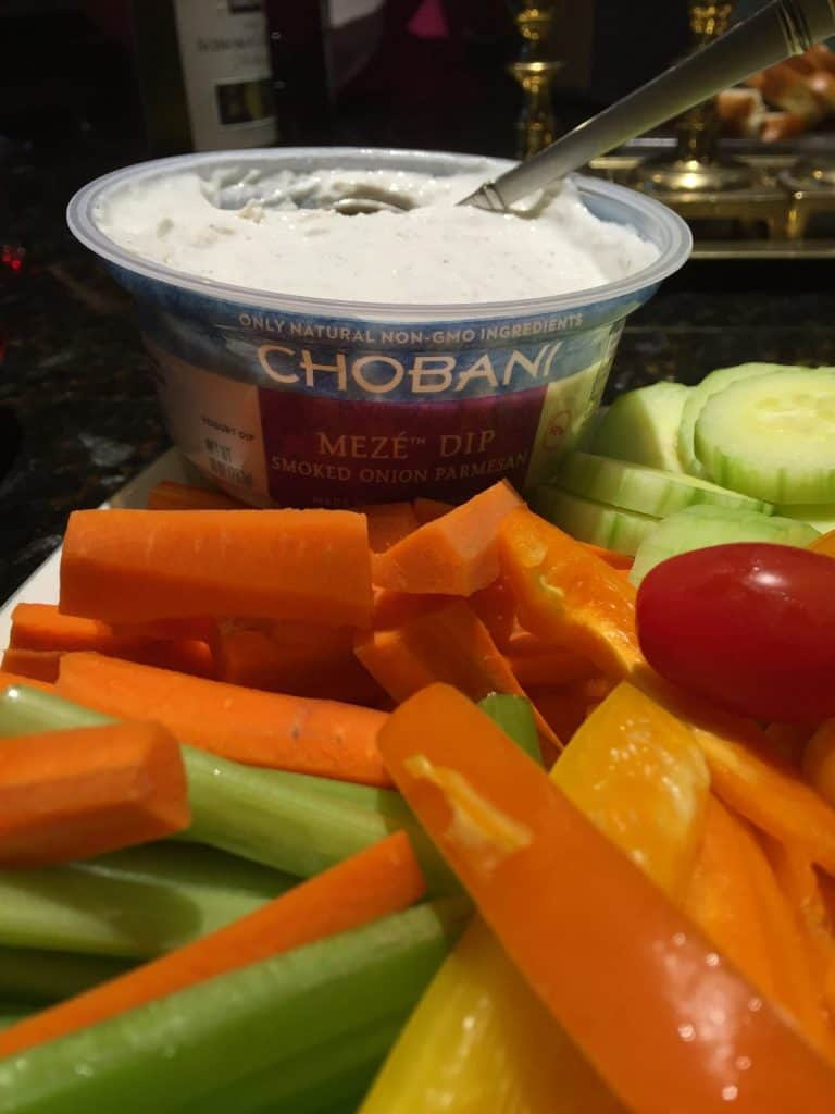 Chobani Meze Dips with vegetables
