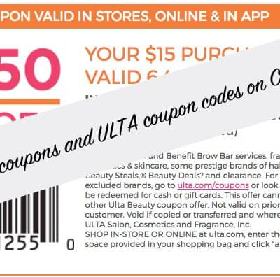 ULTA Coupons: $3.50 off $10 Printable Coupon, Online Coupon Code, and in App Discount