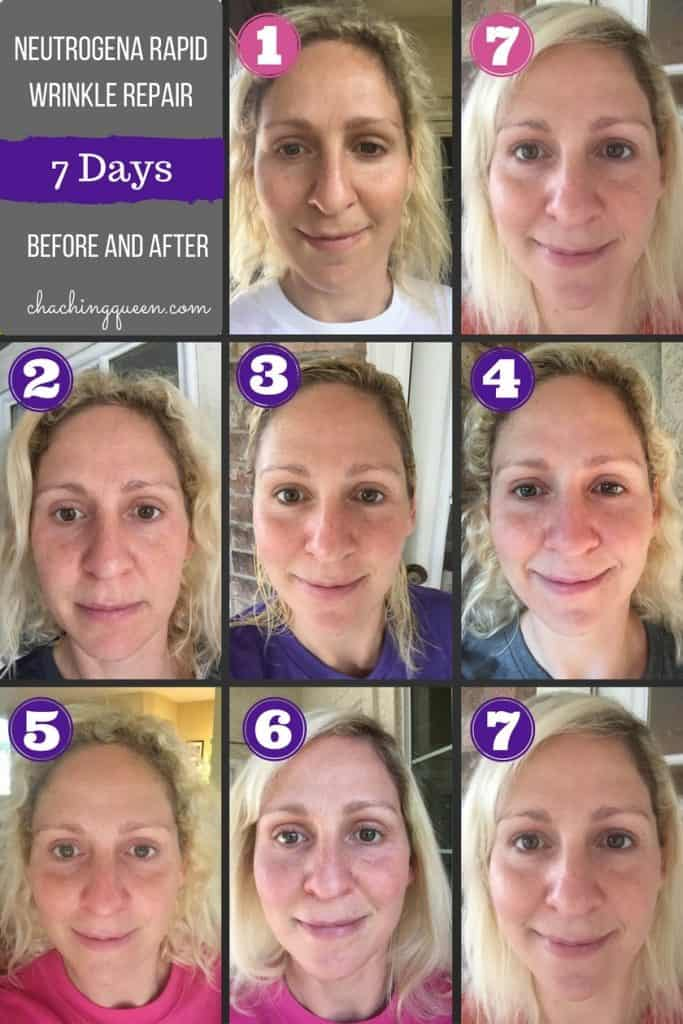 Neutrogena Rapid Wrinkle Repair with Anti-Aging Retinol - 7 Day Photo Diary blog post