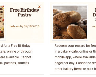 Panera Free Food for Panera Rewards Members – Free Daily Bagels and Free Pastry for Me!