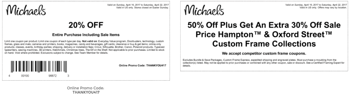 michaels printable coupon april 2017 20 percent off entire purchase