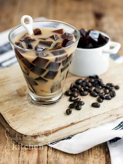 Coffee Jelly Almond Milk Tea recipe