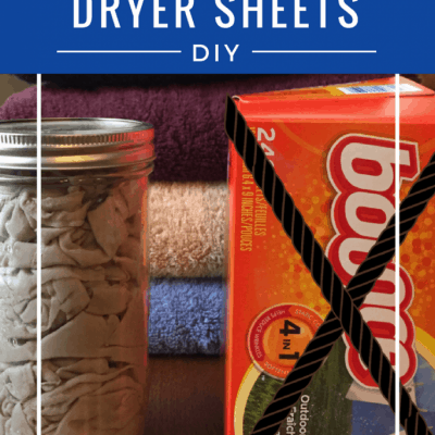 DIY Reusable Fabric Softener Dryer Sheets