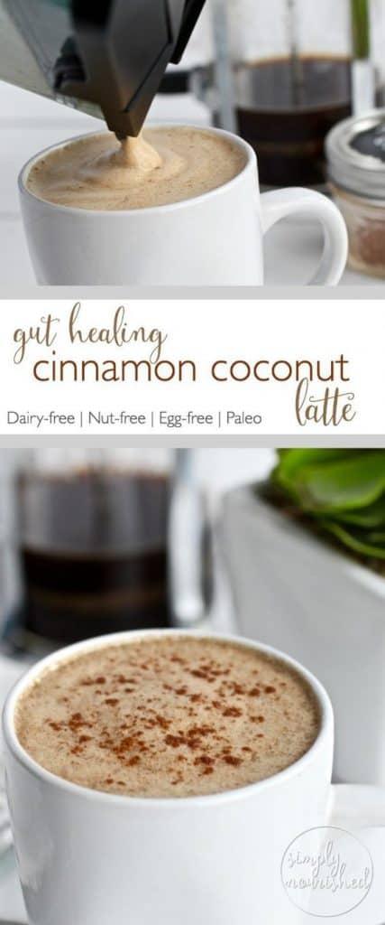 Gut-healing Cinnamon Coconut Latte - bulletproof coffee recipe