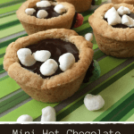 Mini Hot Chocolate Cookie Cups Recipe - Fun Winter Dessert Idea