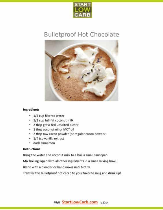 bulletproof hot chocolate recipe - coffee