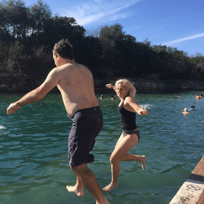 Barton springs pool polar bear splash 2017