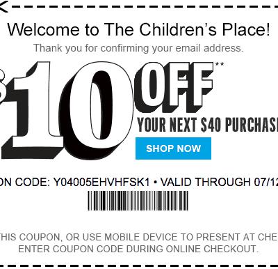 The Children's Place Coupons – Printable Coupons and Coupon Codes 2020