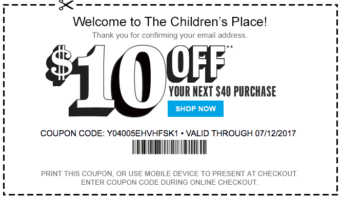 The Children's Place Coupons - Printable Coupons and Coupon Codes 2021 - Cha Ching Queen