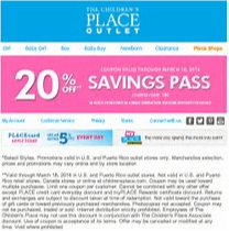 coupon for children place outlet