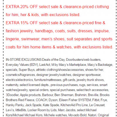 Macy's Coupons and Discounts – 2019 and 2020 Coupon Code and Printable Coupon