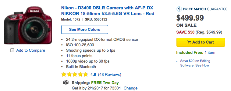 nikon dlsr camera deal gifts for her