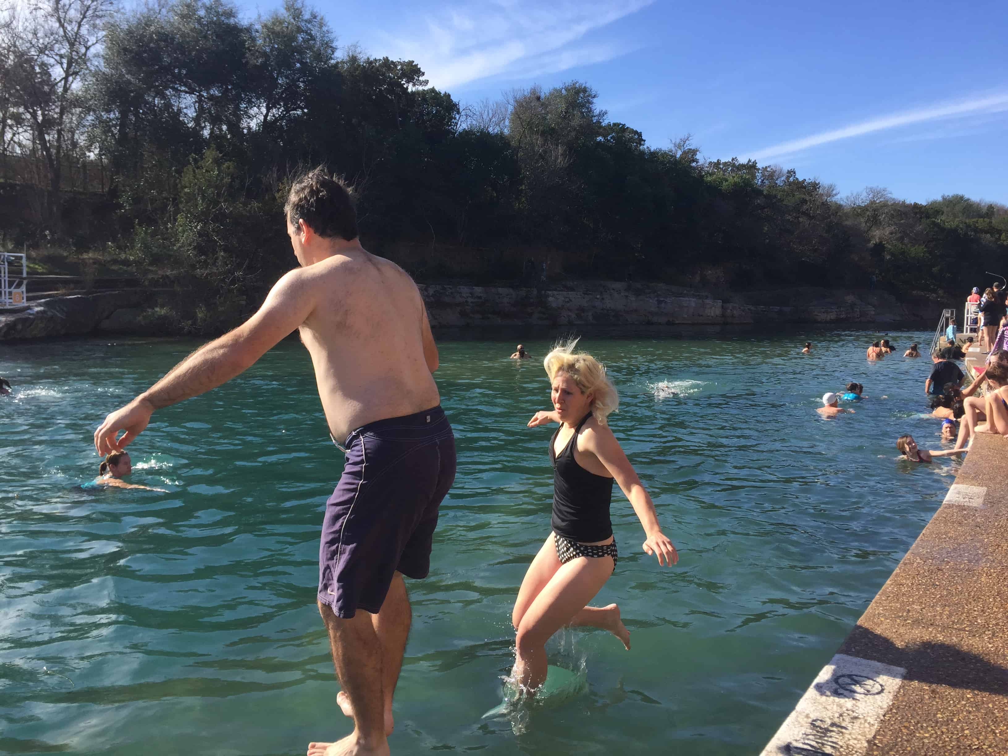 polar bear splash barton springs austin texas 2017 rachel funny face