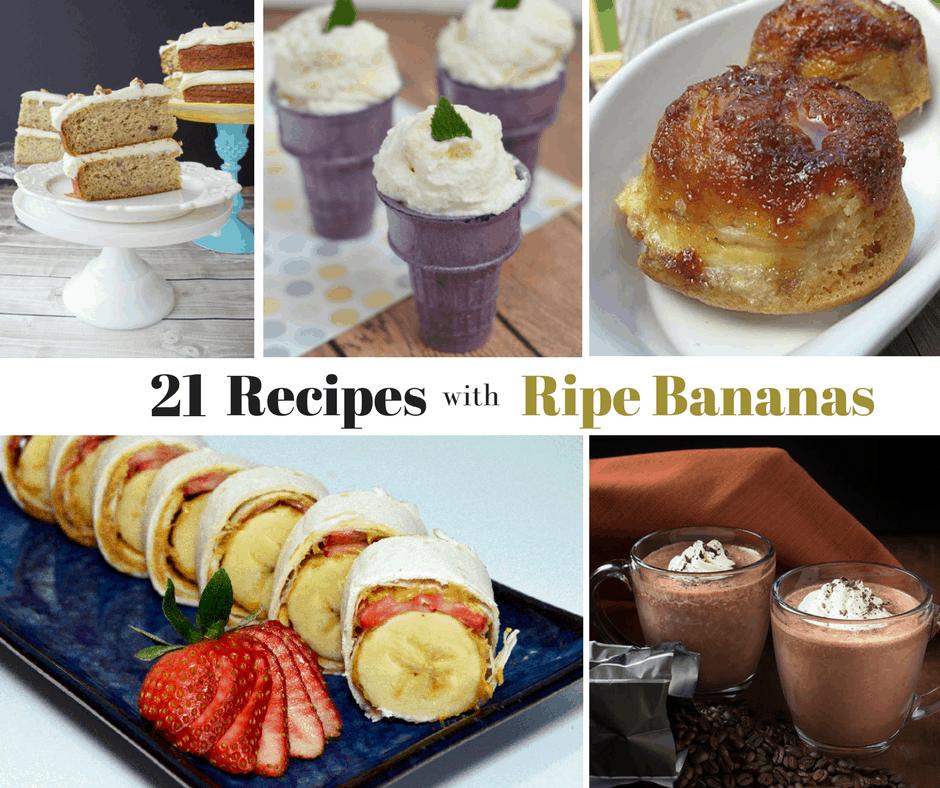 21 Recipes with Ripe Bananas