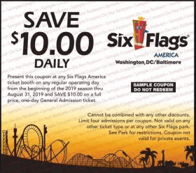 2019 Six Flags Coupon America Washington DC Baltimore-min