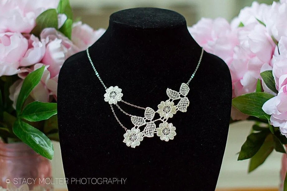 DIY Elegant Floral Lace Necklace - Martha Stewart