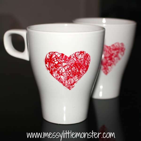 Heart mug diy homemade mothers day gifts
