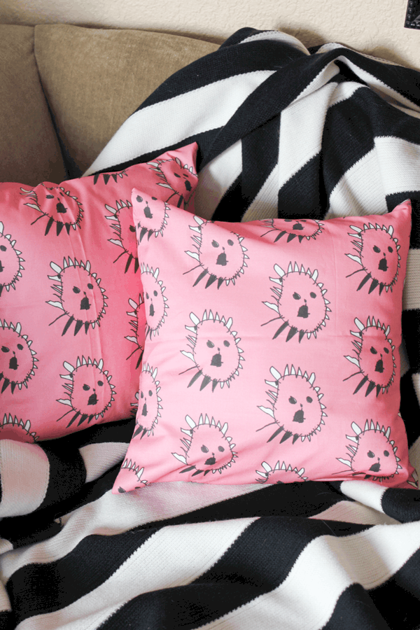 Kids Artwork Throw Pillows DIY Mother's Day Gifts