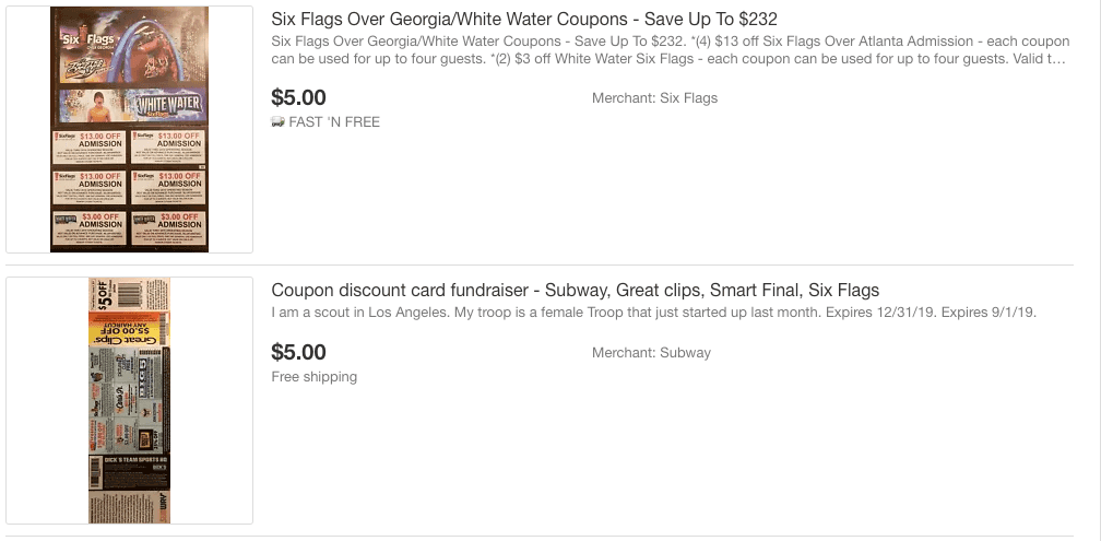 Search eBay for 2019 Coupons for Six Flags