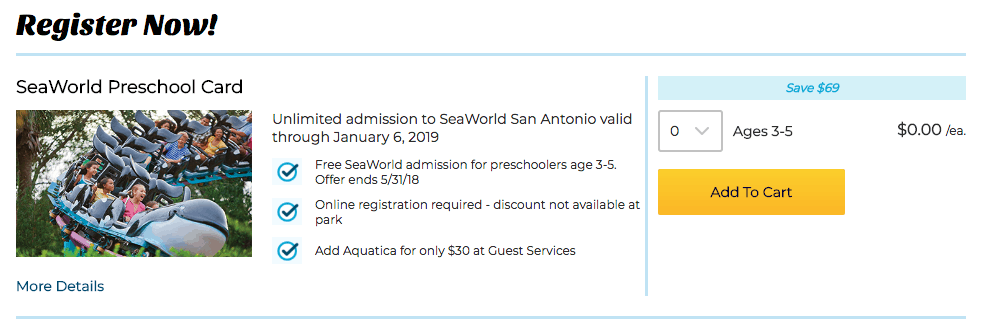 free kids ticket to sea world san antonio 2018