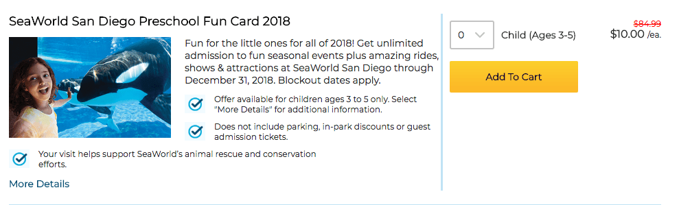 sea world san diego preschool fun card discount ticket