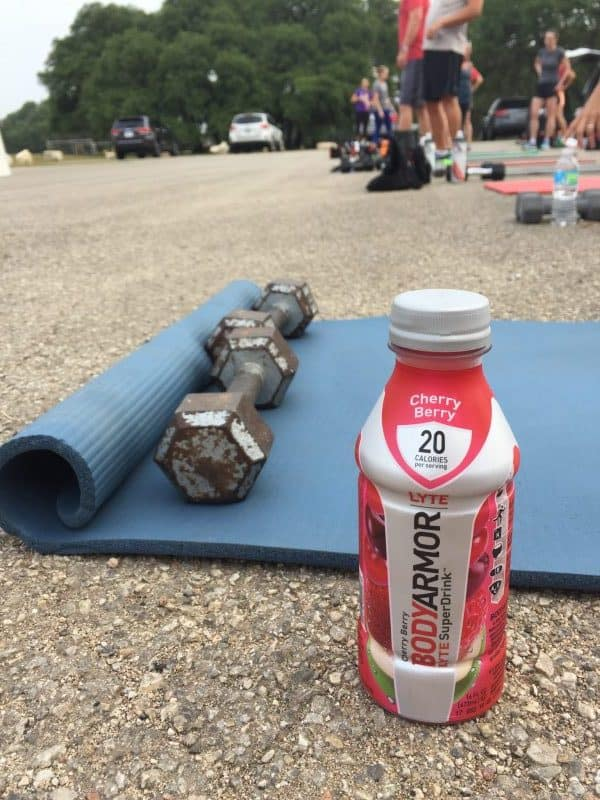 BODYARMOR LYTE - The Low Calorie, Sports Drink coconut water at camp gladiator austin texas