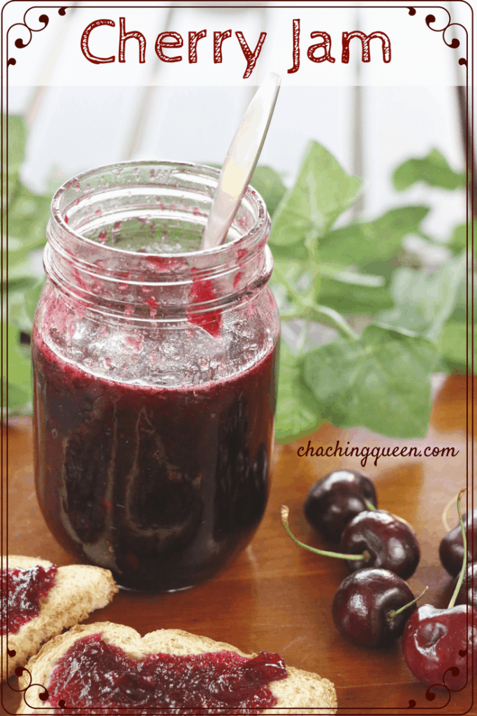 Cherry Jam Recipe without Pectin Cha Ching Queen -Pinterest