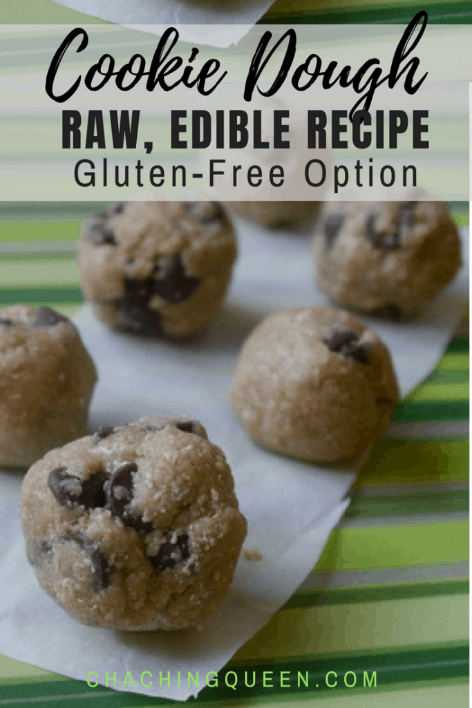 Raw Chocolate Chip Cookie Dough Recipe (Gluten-free Option) - Raw Edible Cookie Dough Recipe