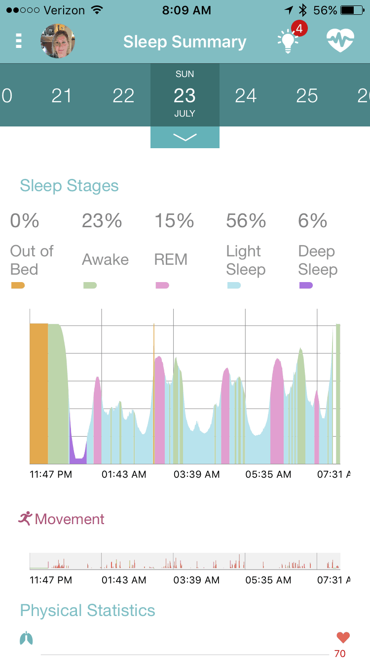 earlysense live sleep tracker app