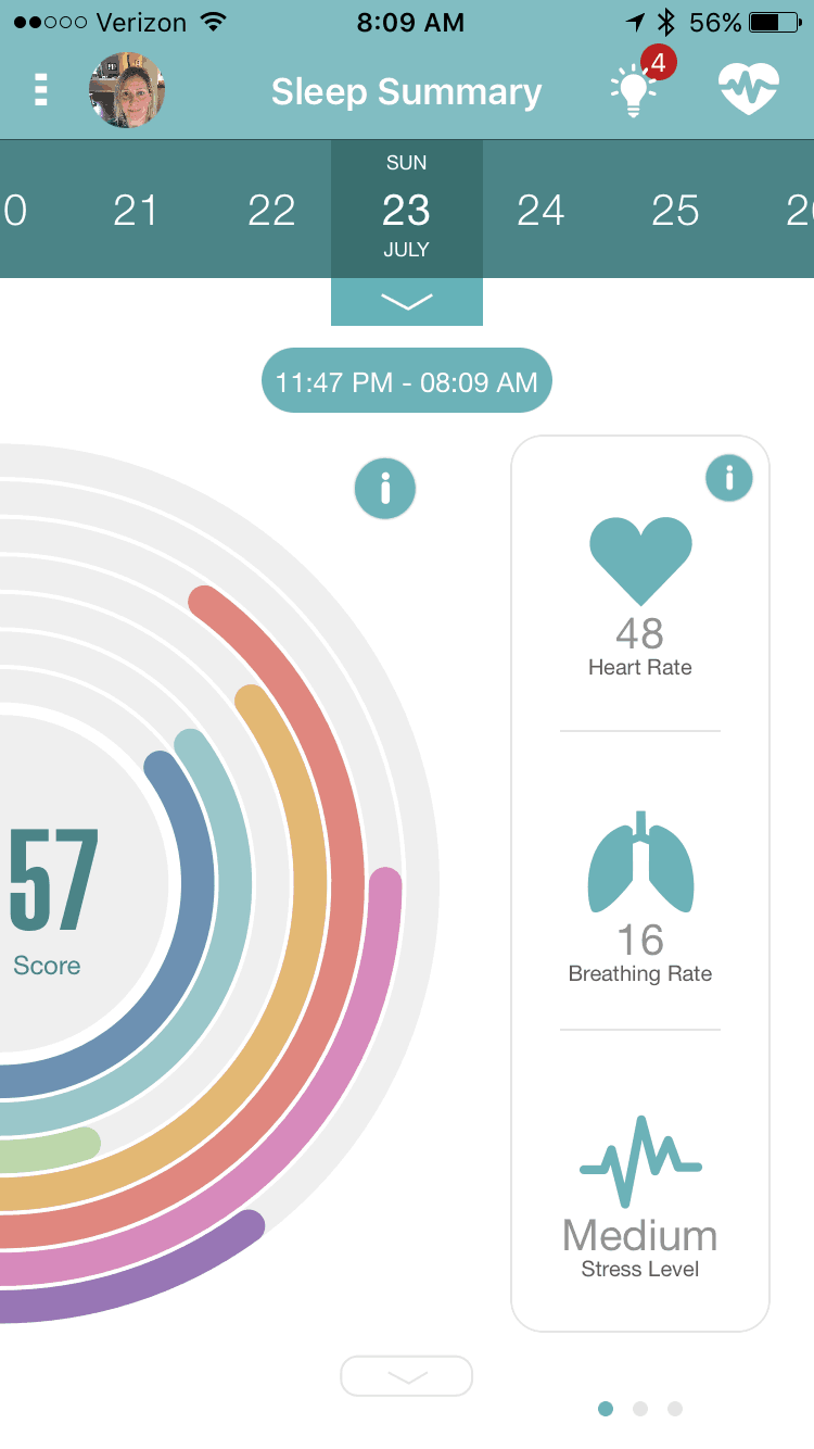 earlysense live sleep tracker sleep app