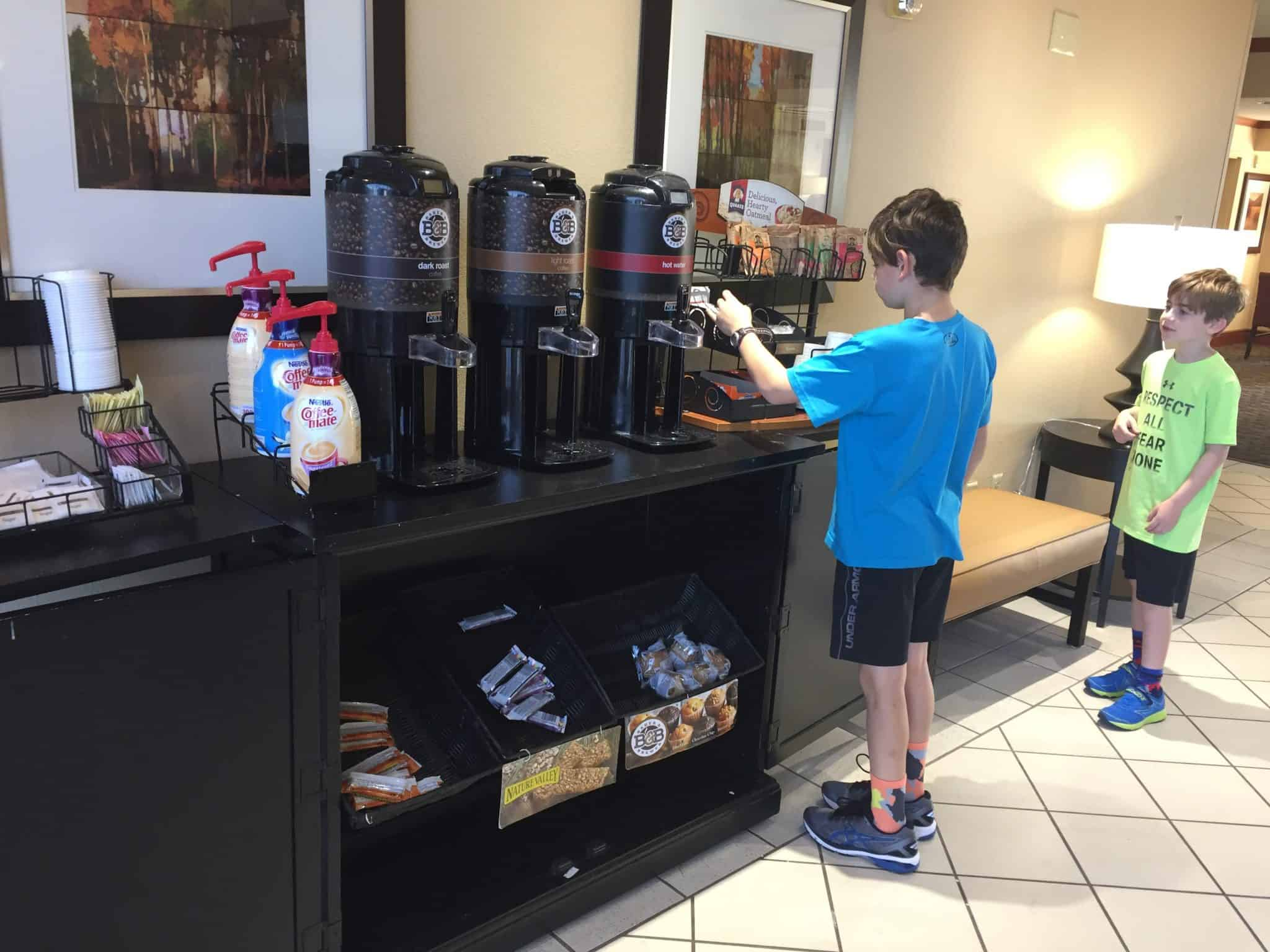 Extended Stay America for Family Friendly and Pet Friendly Travel free grab and go breakfast